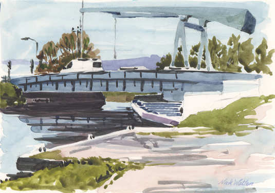 Sketching along the Exeter Ship Canal