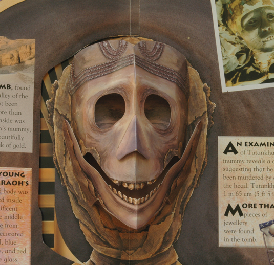The Mummy's Head behind the Death Mask, watercolour illustrations.